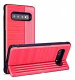 Eiroo Card Slot Samsung Galaxy S10 Ultra Koruma Kırmızı Kılıf