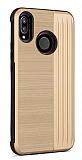 Eiroo Card Slot Xiaomi Mi A2 Lite Ultra Koruma Gold Kılıf