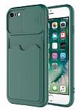 Eiroo Card-X iPhone 7 / 8 Kamera Korumalı Yeşil Silikon Kılıf