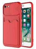 Eiroo Card-X iPhone 7 / 8 Kamera Korumalı Kırmızı Silikon Kılıf