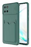 Eiroo Card-X Samsung Galaxy Note 10 Lite Kamera Korumalı Yeşil Silikon Kılıf