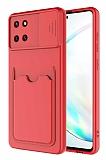 Eiroo Card-X Samsung Galaxy Note 10 Lite Kamera Korumalı Kırmızı Silikon Kılıf