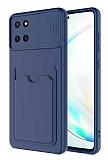 Eiroo Card-X Samsung Galaxy Note 10 Lite Kamera Korumalı Lacivert Silikon Kılıf