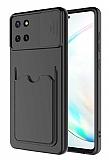 Eiroo Card-X Samsung Galaxy Note 10 Lite Kamera Korumalı Siyah Silikon Kılıf
