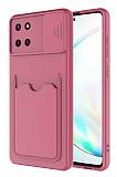 Eiroo Card-X Samsung Galaxy Note 10 Lite Kamera Korumalı Mor Silikon Kılıf