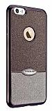 Eiroo Caseology iPhone SE / 5 / 5S Simli Siyah + Silver Silikon Kılıf