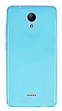 Casper Via E1 Ultra İnce Şeffaf Mavi Silikon Kılıf