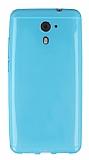 Casper Via M2 Ultra İnce Şeffaf Mavi Silikon Kılıf