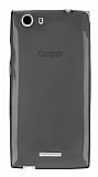 Casper Via V6X Ultra İnce Şeffaf Siyah Silikon Kılıf