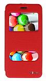 Eiroo Casper Via V5 Vantuzlu Pencereli Kırmızı Deri Kılıf