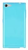 Casper Via V9 Ultra İnce Şeffaf Mavi Silikon Kılıf