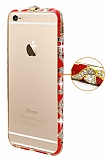 Eiroo Ceramic iPhone 6 / 6S Ta�l� Metal Bumper �er�eve K�rm�z� K�l�f