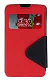 Eiroo Clasps LG Optimus L7 2 Pencereli Standl� K�rm�z� K�l�f
