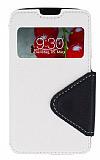 Eiroo Clasps LG Optimus L7 2 Pencereli Standl� Beyaz K�l�f