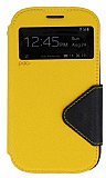 Eiroo Clasps Samsung i9082 Galaxy Grand / i9060 Grand Neo Standl� Pencereli Sar� Deri K�l�f