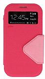 Eiroo Clasps Samsung i9300 Galaxy S3 Standl� Pencereli Pembe Deri K�l�f