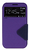 Eiroo Clasps Samsung N7100 Galaxy Note 2 Standl� Pencereli Mor Deri K�l�f