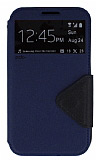 Eiroo Clasps Samsung N7100 Galaxy Note 2 Standl� Pencereli Lacivert Deri K�l�f