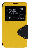 Eiroo Clasps Samsung N7500 Galaxy Note 3 Neo Standl� Pencereli Sar� Deri K�l�f
