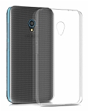 Eiroo Clear Alcatel U5 Şeffaf Silikon Kılıf
