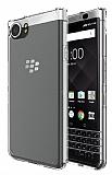 Eiroo Clear BlackBerry KEYOne Şeffaf Silikon Kılıf