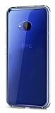 Eiroo Clear HTC U11 Şeffaf Silikon Kılıf