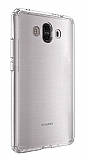 Eiroo Clear Hybrid Huawei Mate 10 Silikon Kenarlı Şeffaf Rubber Kılıf