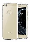 Eiroo Clear Hybrid Huawei P10 Lite Silikon Kenarlı Şeffaf Rubber Kılıf
