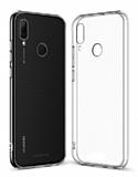 Eiroo Clear Hybrid Huawei P Smart 2019 Silikon Kenarlı Şeffaf Rubber Kılıf