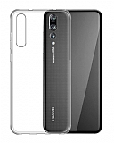 Eiroo Clear Hybrid Huawei P20 Silikon Kenarlı Şeffaf Rubber Kılıf