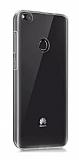 Eiroo Clear Hybrid Huawei P9 Lite 2017 Silikon Kenarlı Şeffaf Rubber Kılıf