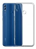 Eiroo Clear Hybrid Huawei Y7 2019 Silikon Kenarlı Şeffaf Rubber Kılıf