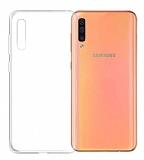 Eiroo Clear Hybrid Samsung Galaxy A50 Silikon Kenarlı Şeffaf Rubber Kılıf