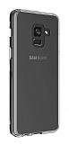 Eiroo Clear Hybrid Samsung Galaxy A6 Plus 2018 Silikon Kenarlı Şeffaf Rubber Kılıf