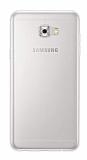Eiroo Clear Hybrid Samsung Galaxy C5 Pro Silikon Kenarlı Şeffaf Rubber Kılıf
