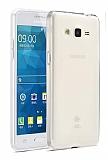 Eiroo Clear Hybrid Samsung Galaxy Grand Prime / Prime Plus Silikon Kenarlı Şeffaf Rubber Kılıf