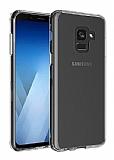 Eiroo Clear Hybrid Samsung Galaxy J6 Silikon Kenarlı Şeffaf Rubber Kılıf