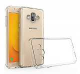 Eiroo Clear Hybrid Samsung Galaxy J7 Duo Silikon Kenarlı Şeffaf Rubber Kılıf