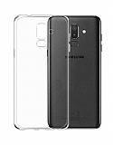 Eiroo Clear Hybrid Samsung Galaxy J8 Silikon Kenarlı Şeffaf Rubber Kılıf