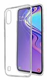 Eiroo Clear Hybrid Samsung Galaxy M10 Silikon Kenarlı Şeffaf Rubber Kılıf