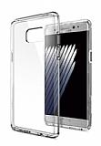 Eiroo Clear Hybrid Samsung Galaxy Note FE Silikon Kenarlı Şeffaf Rubber Kılıf