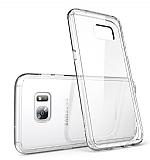 Eiroo Clear Hybrid Samsung Galaxy S7 Edge Silikon Kenarlı Şeffaf Rubber Kılıf