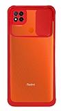 Eiroo Clear Lens Xiaomi Poco C3 Kırmızı Silikon Kılıf