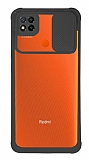 Eiroo Clear Lens Xiaomi Poco C3 Siyah Silikon Kılıf