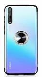 Eiroo Clear Ring Huawei Y8p Siyah Kenarlı Silikon Kılıf