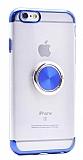 Eiroo Clear Ring iPhone 6 / 6S Lacivert Kenarlı Silikon Kılıf