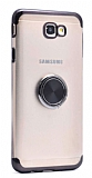 Eiroo Clear Ring Samsung Galaxy J7 Prime / Prime 2 Siyah Kenarlı Silikon Kılıf
