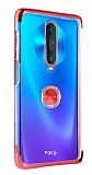 Eiroo Clear Ring Xiaomi Poco X2 Kırmızı Kenarlı Silikon Kılıf