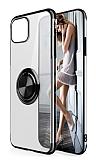 Eiroo Clear Ring Samsung Galaxy Note 10 Lite Siyah Kenarlı Silikon Kılıf