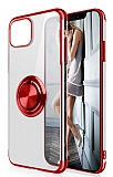 Eiroo Clear Ring Samsung Galaxy Note 10 Lite Kırmızı Kenarlı Silikon Kılıf